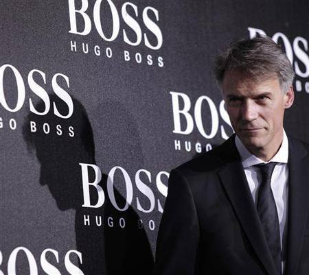 CEO of Hugo Boss Claus-Dietrich Lahrs poses ahead of the BOSS Black fall/winter 2012 fashion show by Hugo Boss in Beijing