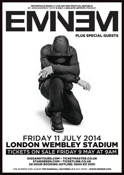 Eminem Makes History, Will Headline Show at Wembley Stadium in London
