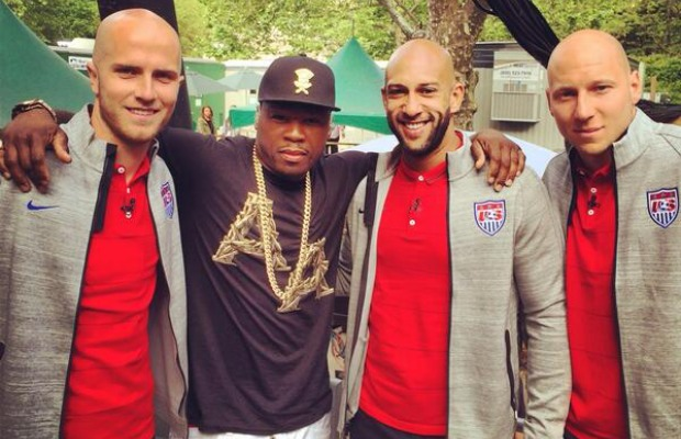 50 Cent Kicks It With Several Players From the U.S. Men's National Team