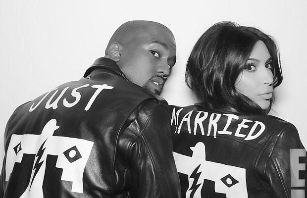 Kanye West and Kim Kardashian Wore Custom Schott NYC Leather Jackets at Their Wedding Reception